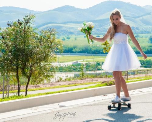Noiva skatista – casamento radical