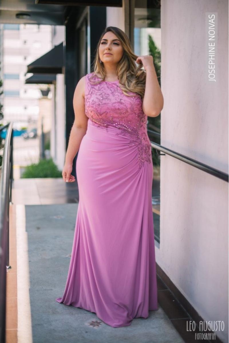 Vestido de Festa Plus Size – Rosé