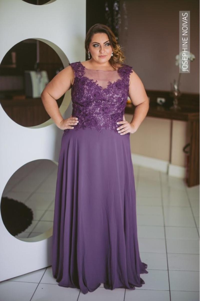 Vestido de Festa Plus Size – Uva