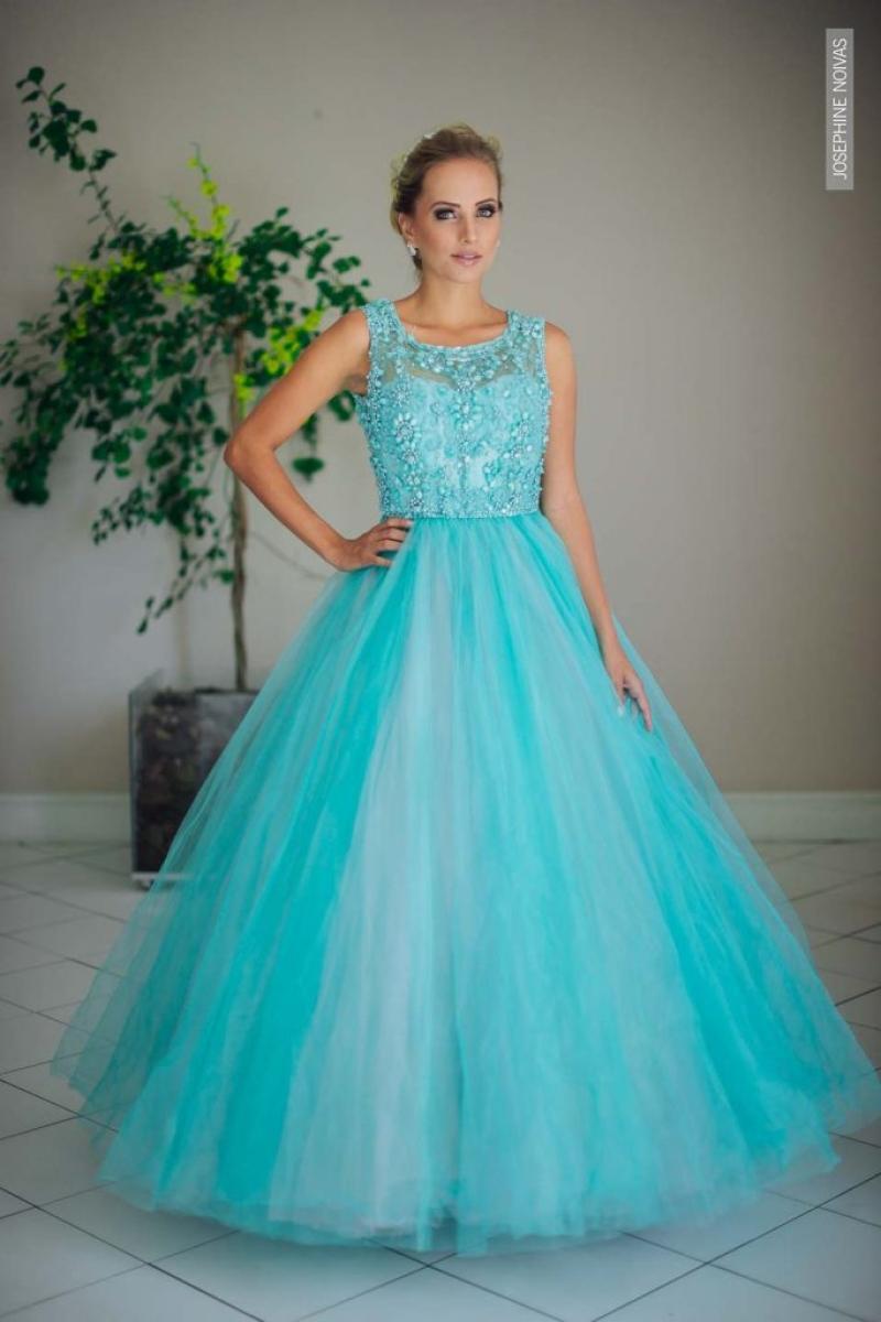 Vestido de Debutante –  Azul Tiffany