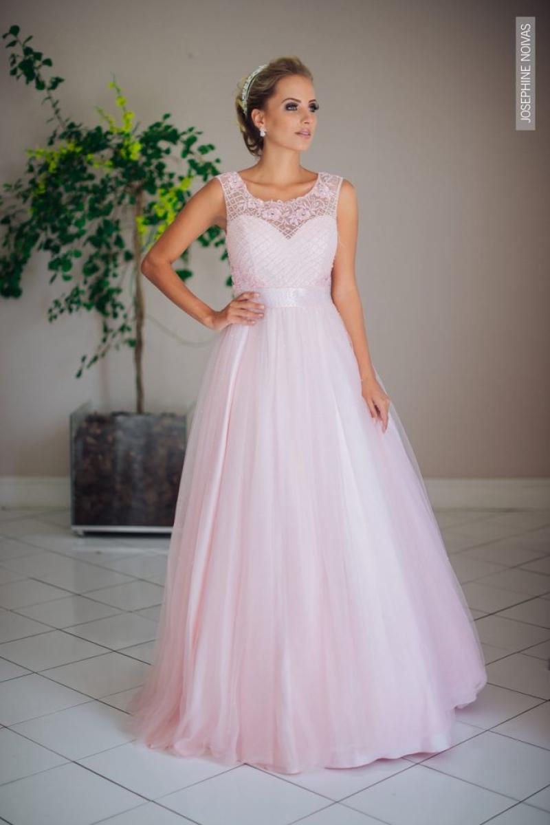 Vestido de Debutante –  Rosa Bebê