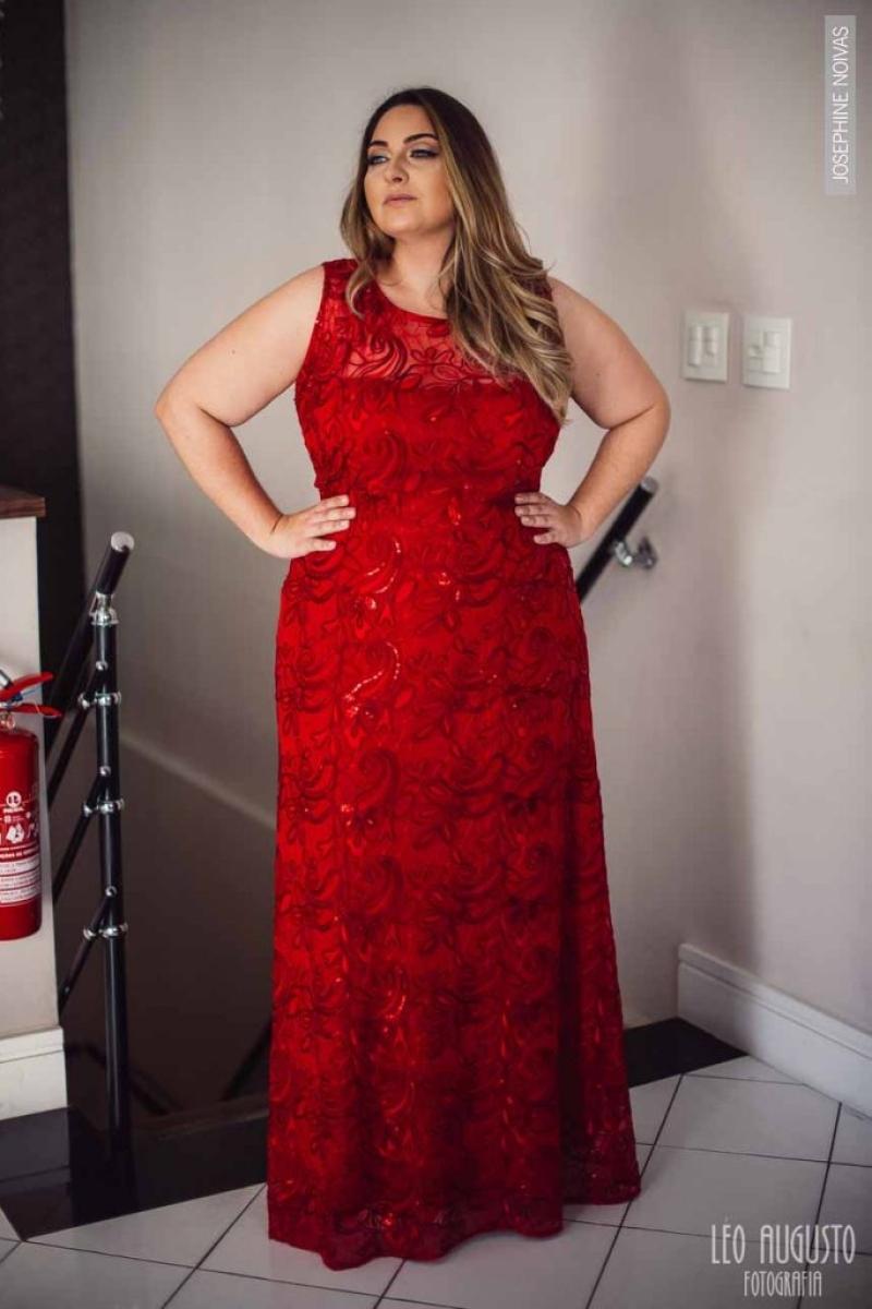Vestido de Festa Plus Size – Vermelho