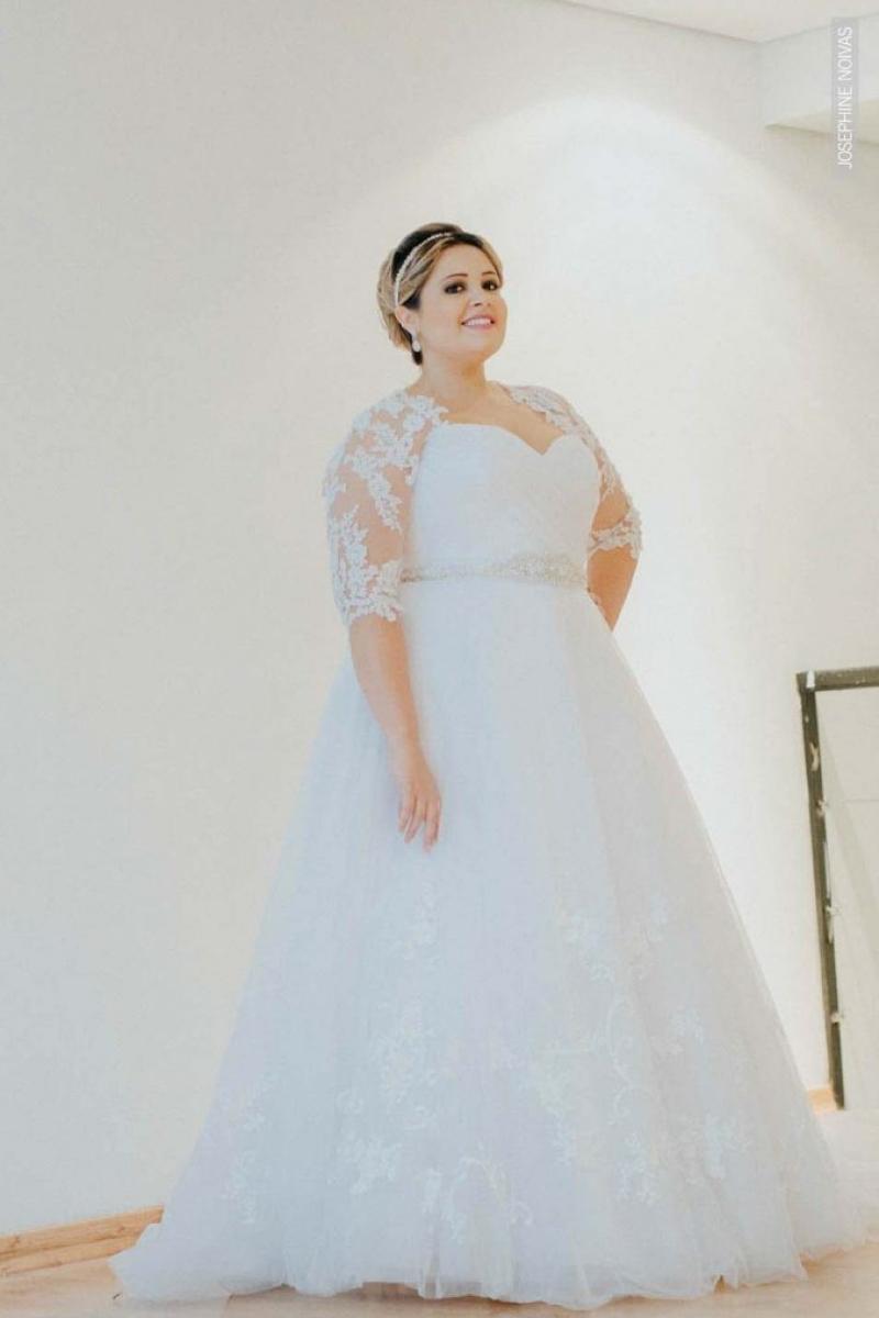 Vestido de Noiva Plus Size – Corte Princesa