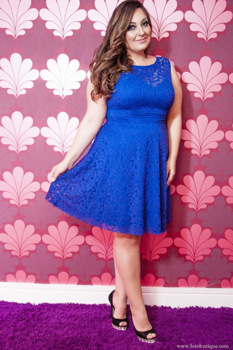 Vestido de Festa Plus Size – Curto Azul Royal