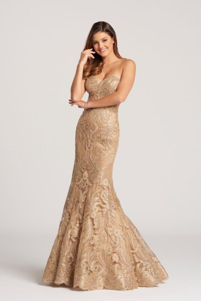 Vestido de Festa – Tomara que Caia Dourado Brilho