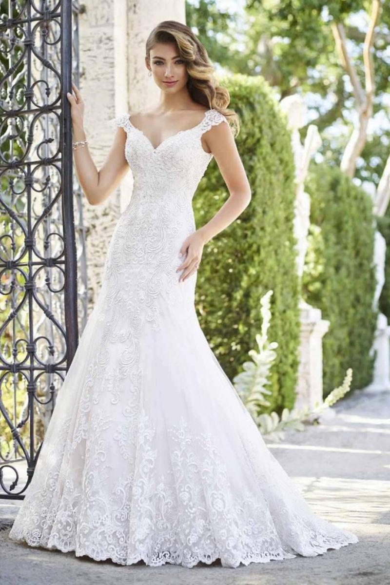 Vestido de Noiva Semi Sereia com alças