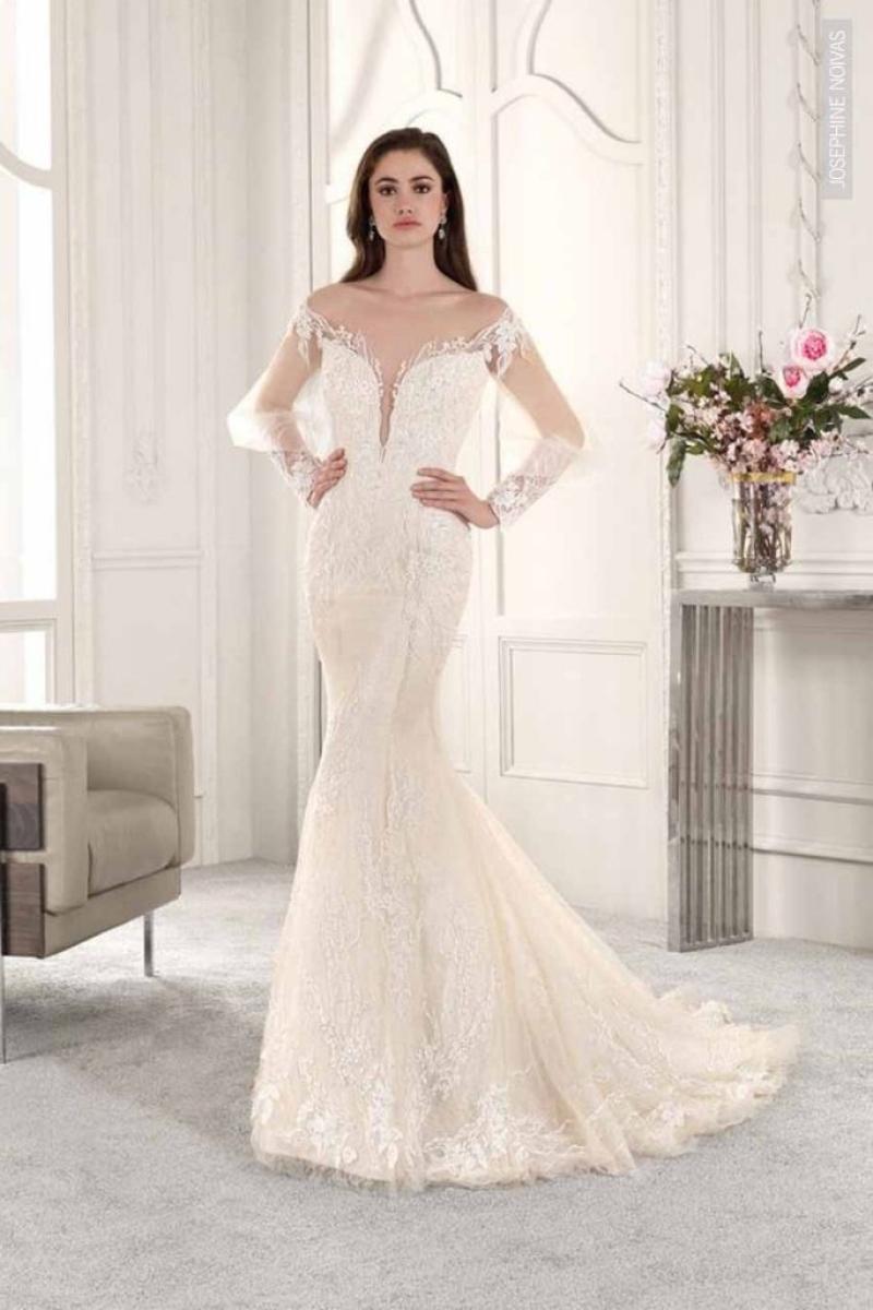 Vestido de Noiva – Sereia com mangas