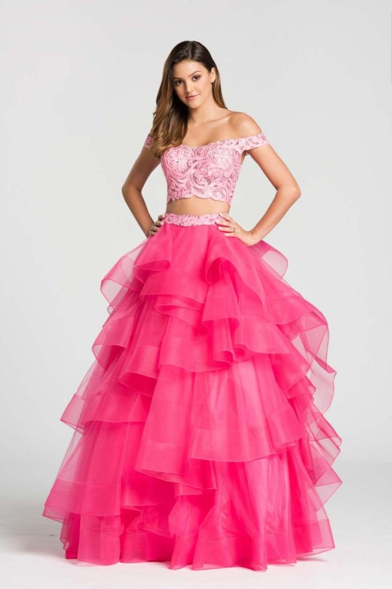 Vestido de Debutante –  Saia e cropped na cor Rosa e Pink