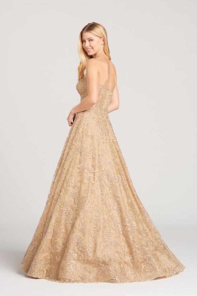 Vestido de Debutante –  tomara que caia dourado