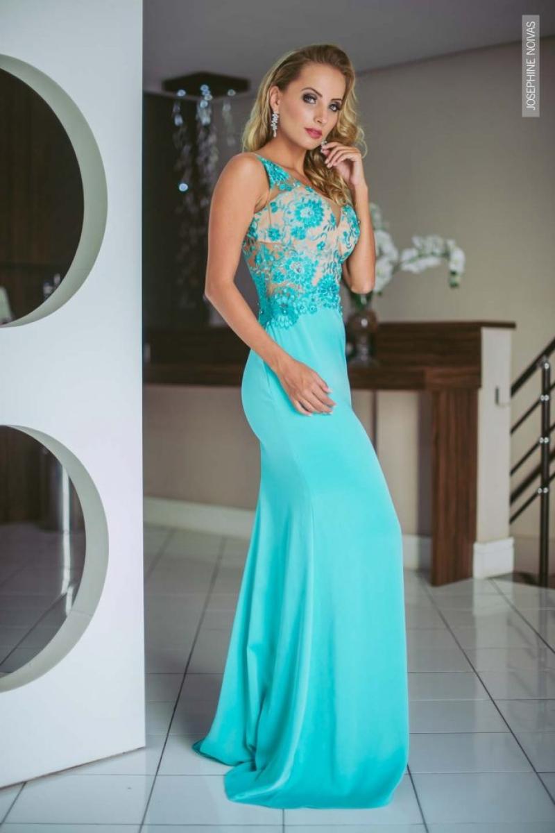 Vestido de Festa – Azul Tiffany