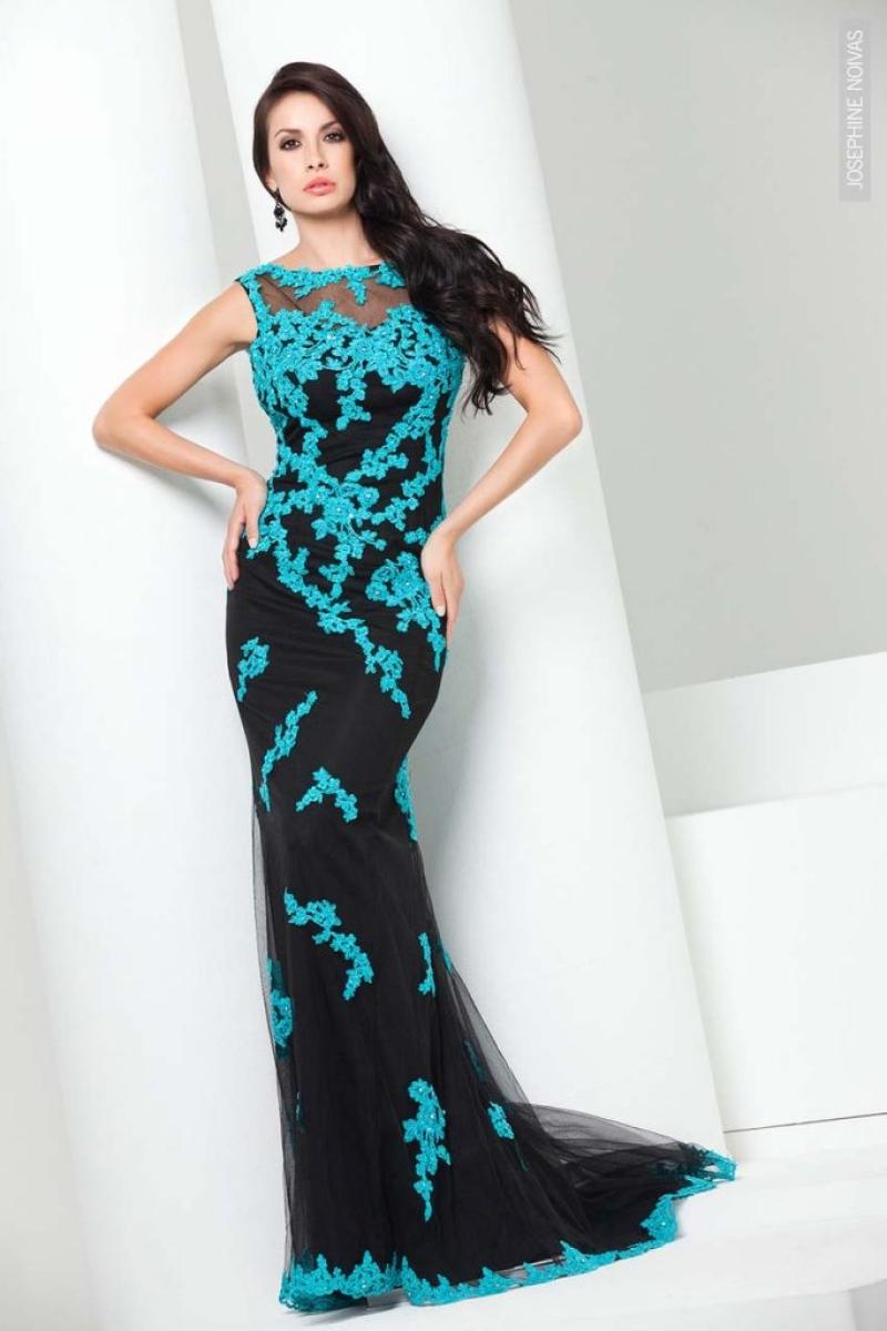 Vestido de Festa – Preto com Azul