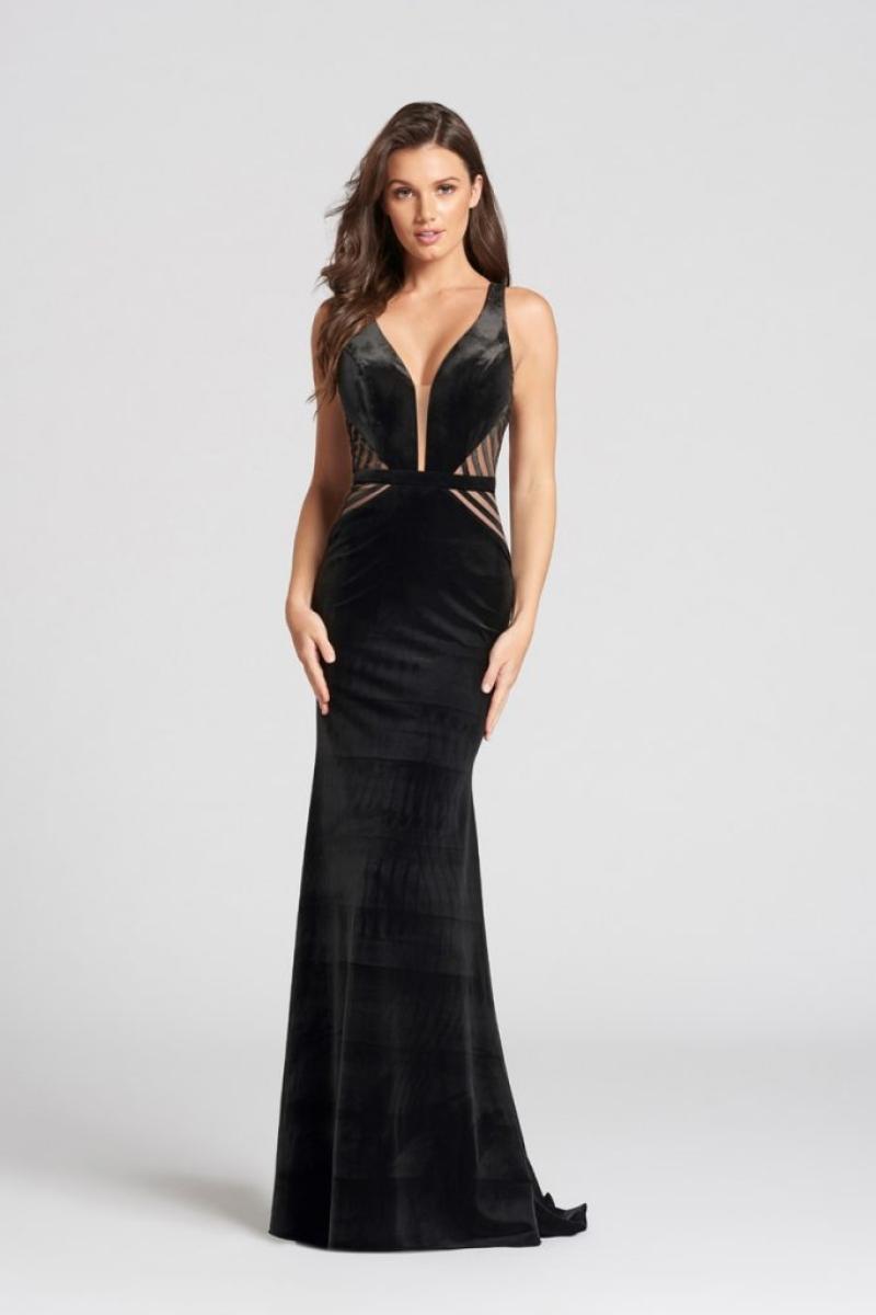 Vestido de Festa – Sereia na cor preto de Veludo