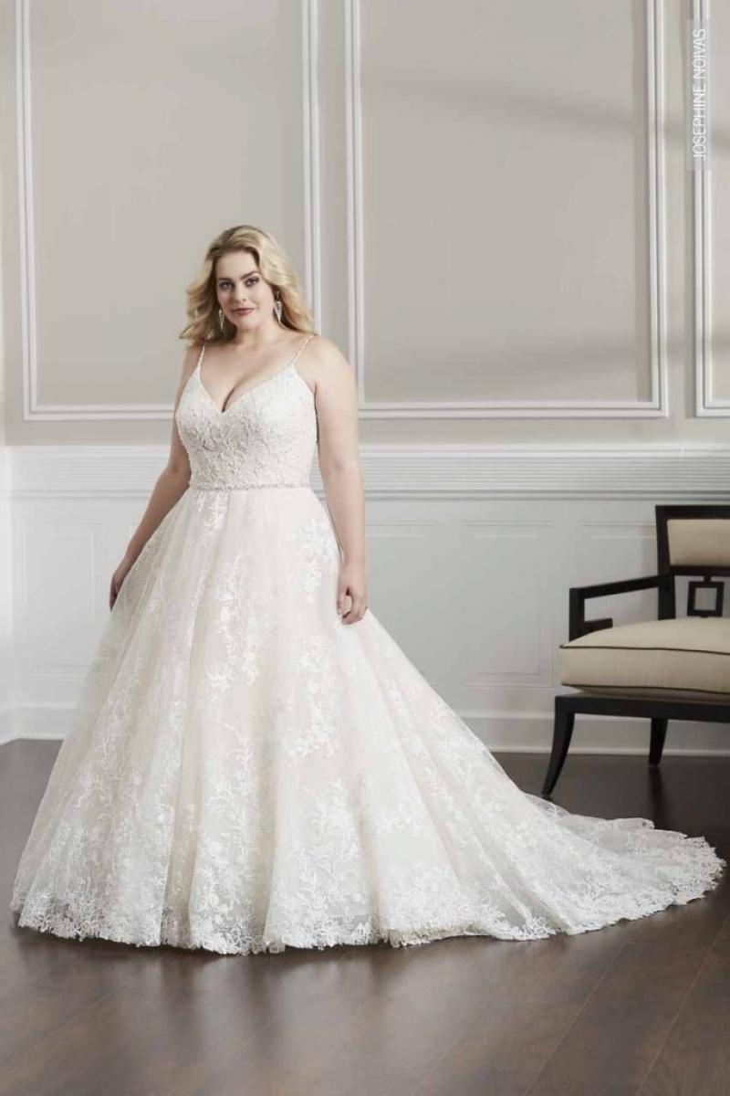 Vestido de Noiva – Corte A com volume
