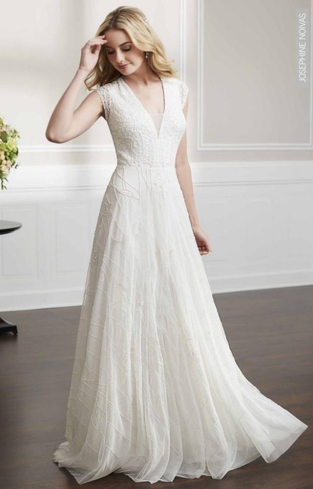 Vestido de Noiva – Evasé com mangas