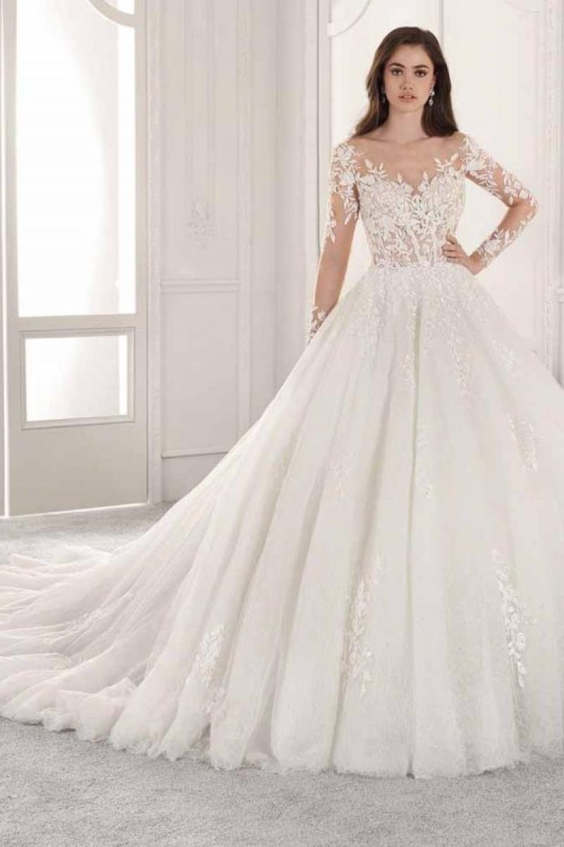 Vestido de Noiva – Princesa com Mangas