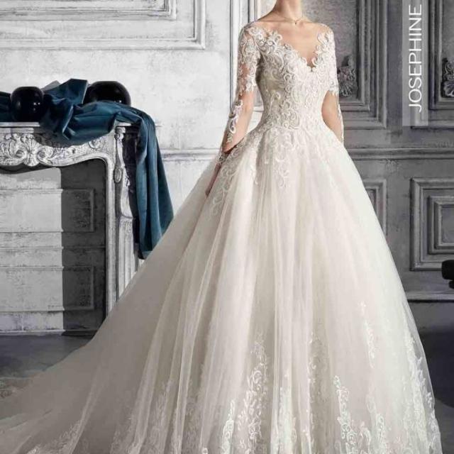 Vestido de Noiva – Princesa de Renda com mangas longas