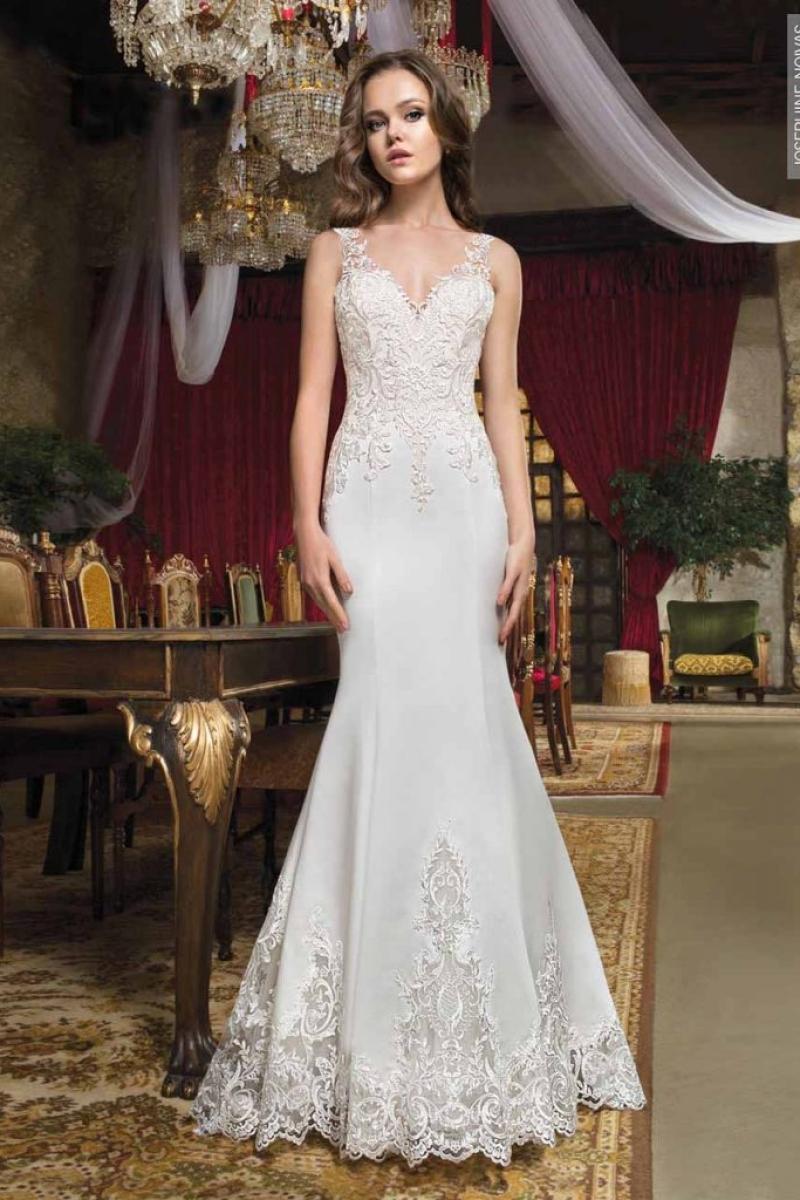 Vestido de Noiva – Semi Sereia com Calda
