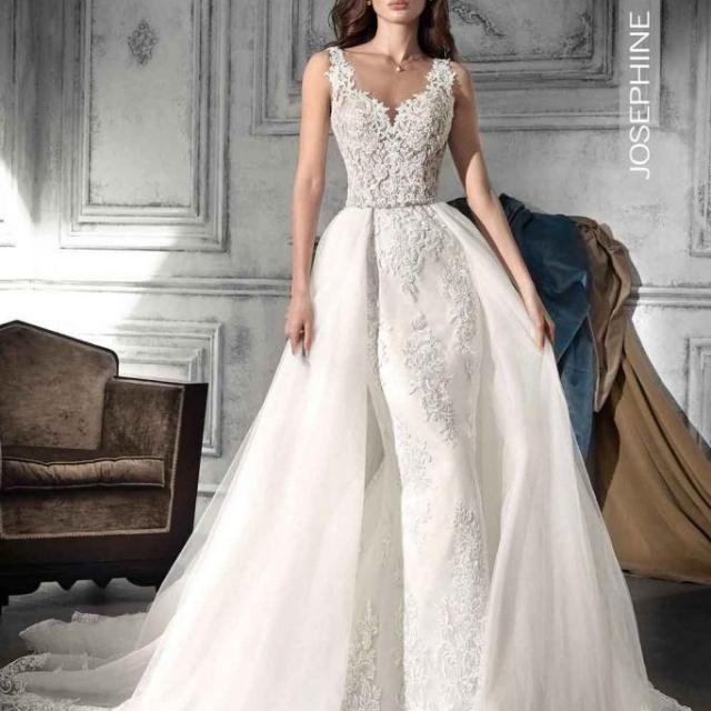 Vestido de Noiva – Sereia corpo de renda com calda removível