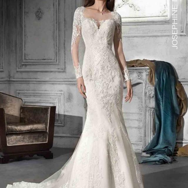 Vestido de Noiva – Sereia de mangas longas