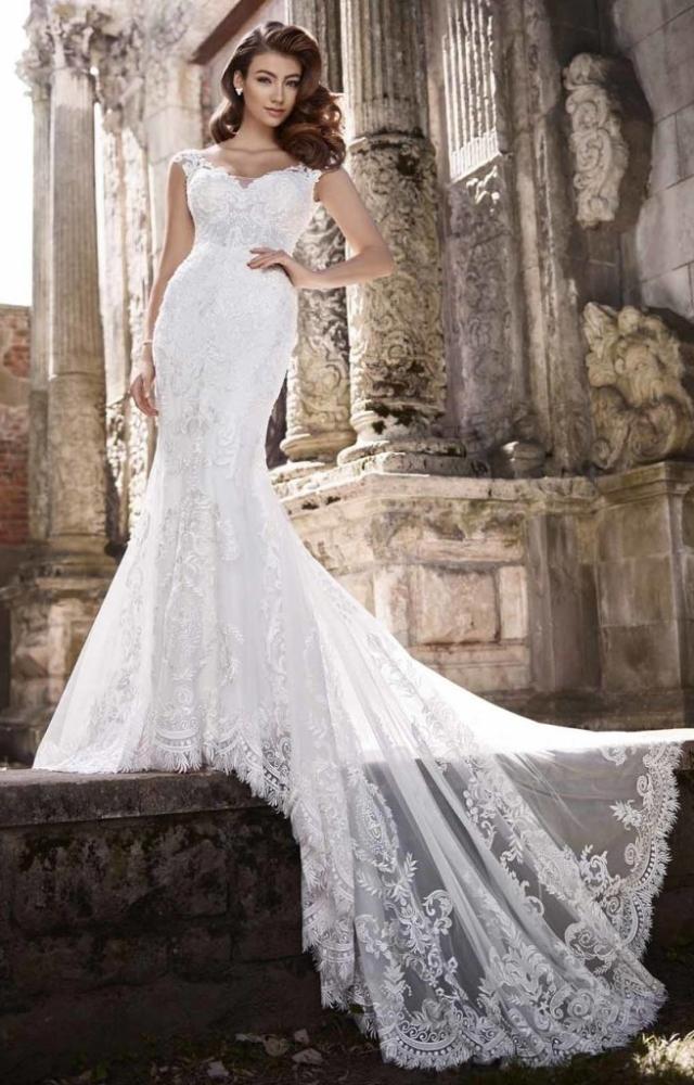Vestido de Noiva Seria com Calda
