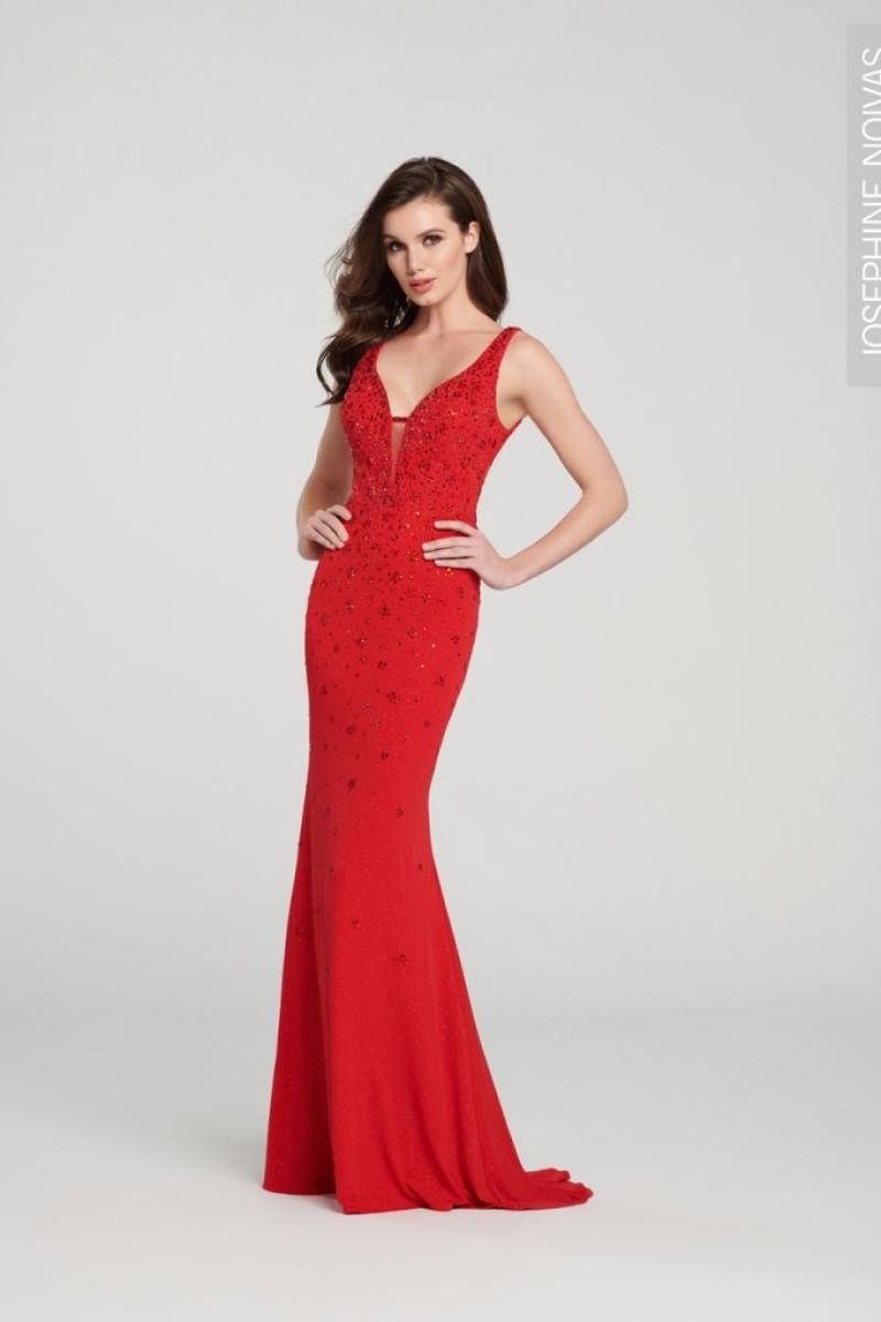 Vestido de festa na cor vermelha sereia sem brilho para madrinhas formandas e festas