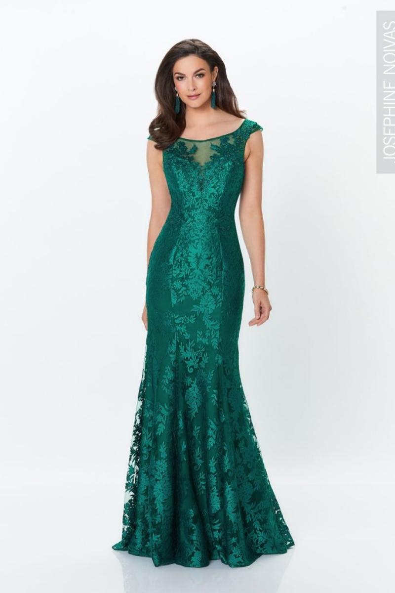 Vestido de festa verde esmeralda com renda para madrinhas formandas e festas