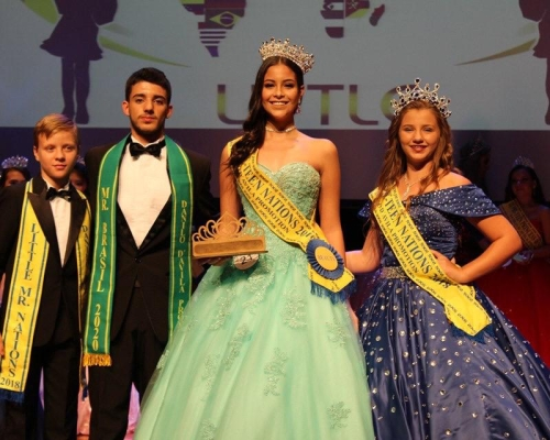 Vestido de festa da Miss Pre-Teen Nations 2019
