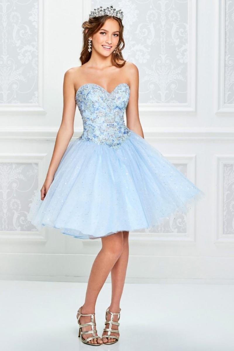 Vestido de Debutante modelo Tutti Sposa azul claro