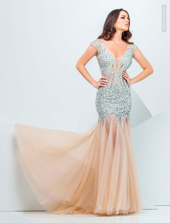 Vestido de Festa Plus Size - Sereia Rosa - Josephine Noivas