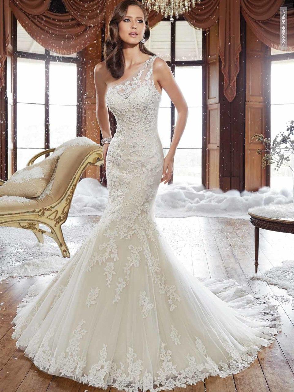 Vestido De Noiva Um Ombro Só Com Alça Na Transparência