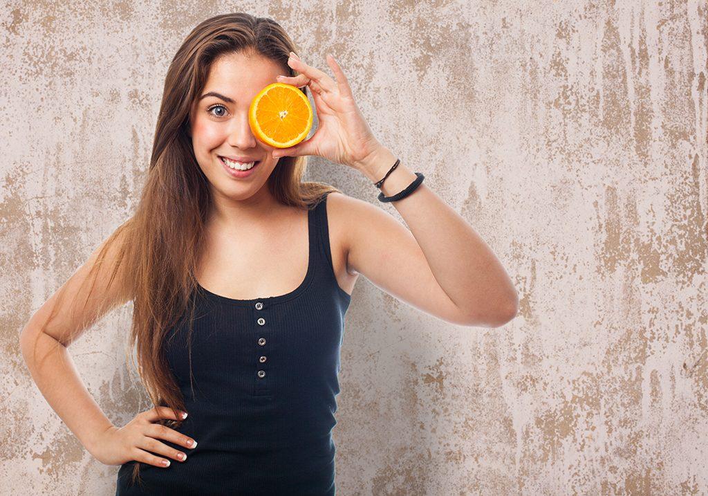 invista na laranja grande nivel de vitamina C