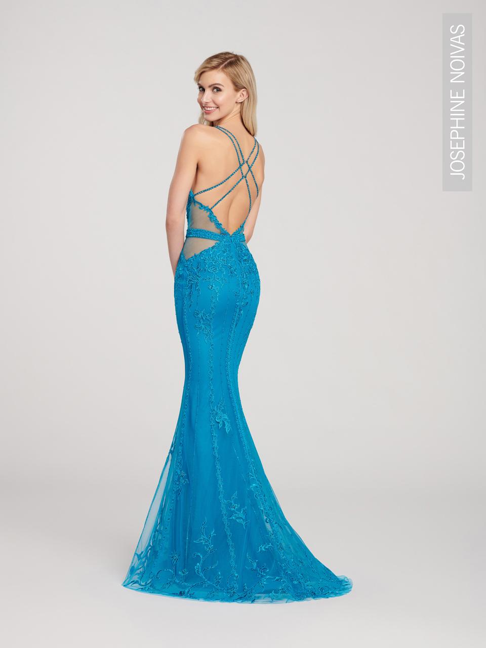 Vestido De Festa Sereia Azul Turquesa Com Brilho Para